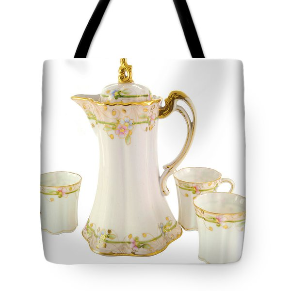 Porcelain Pitcher And Cups Tote Bag