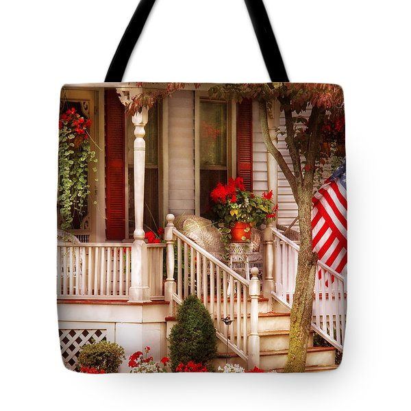 Porch - Americana Tote Bag by Mike Savad