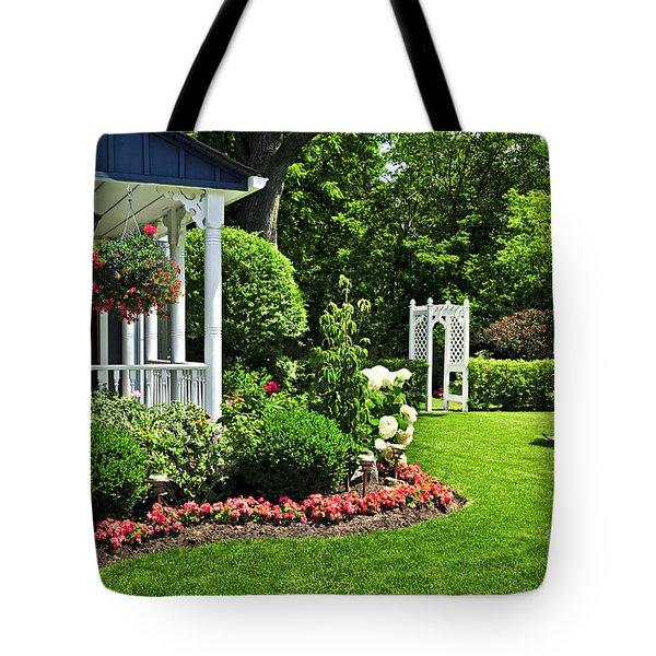Porch And Garden Tote Bag by Elena Elisseeva