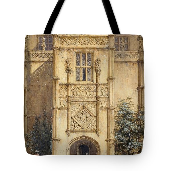 Porch At Montacute, 1842 Tote Bag