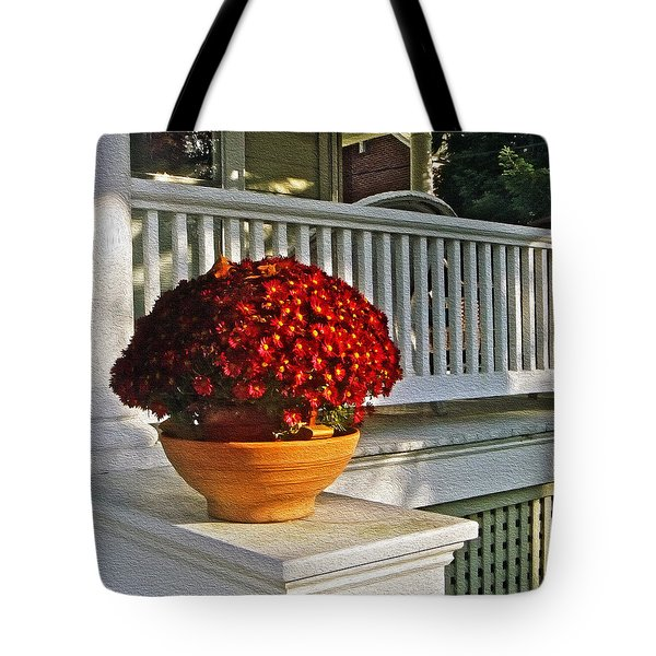 Porch Beauty Tote Bag by Brian Wallace