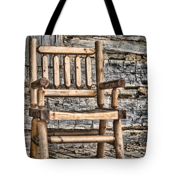 Porch Chair Tote Bag by Heather Applegate
