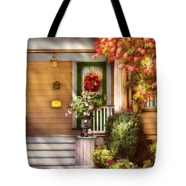 Porch - Cranford Nj - Simply Pink Tote Bag by Mike Savad