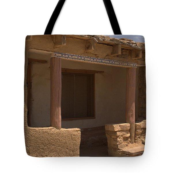 Porch Of Pueblo Home Tote Bag