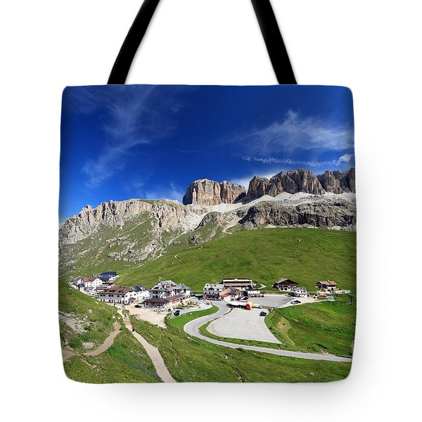 Pordoi Pass And Mountain Tote Bag