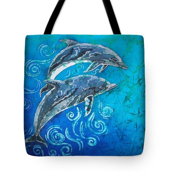 Porpoise Pair Tote Bag by Sue Duda
