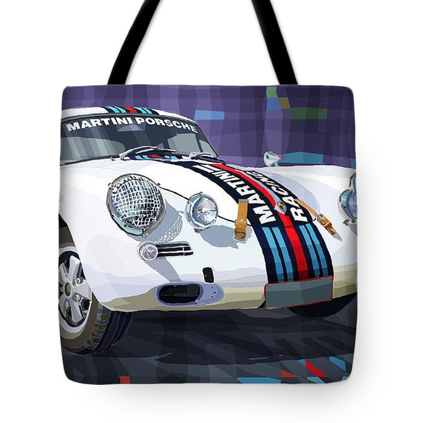 Porsche 356 Martini Racing Tote Bag