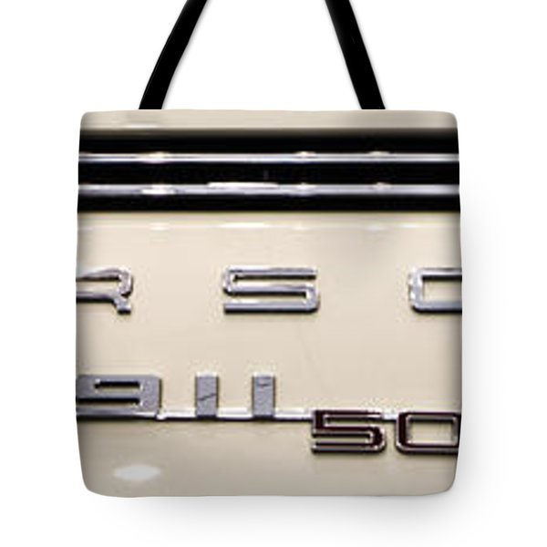Porsche 50th Anniversary Rear Badge Tote Bag
