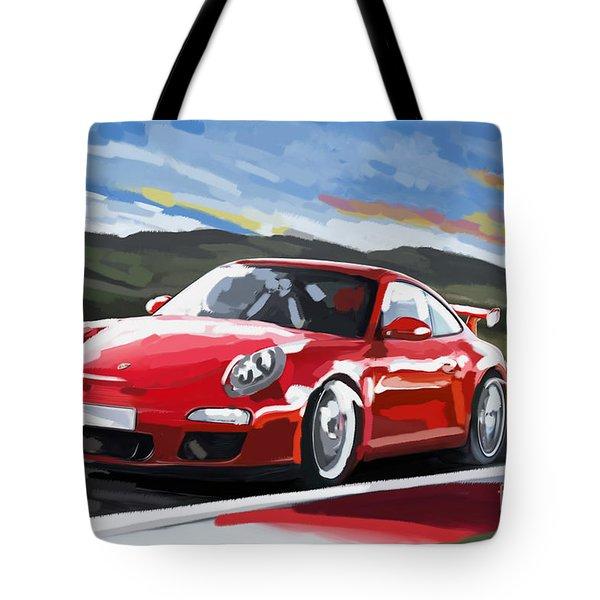 Porsche 911 Gt3 Impressionist Tote Bag