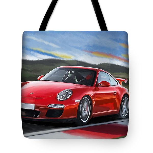 Porsche 911 Gt3 Tote Bag by Tim Gilliland