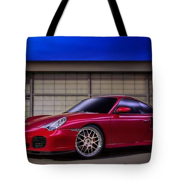Porsche 911 Twin Turbo Tote Bag