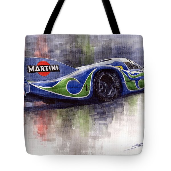 Porsche 917 Psychodelic  Tote Bag