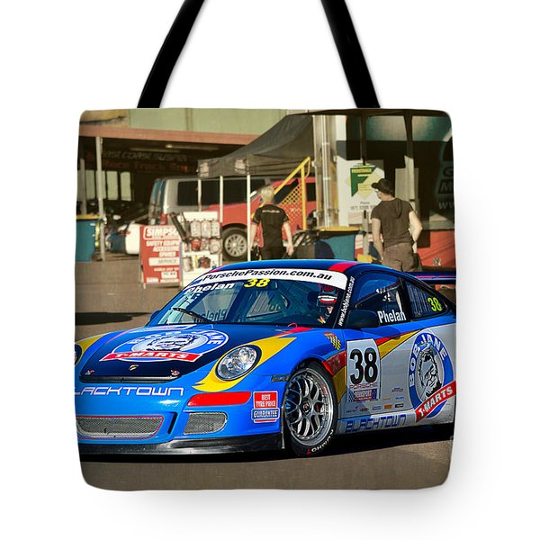 Porsche In The Pits Tote Bag