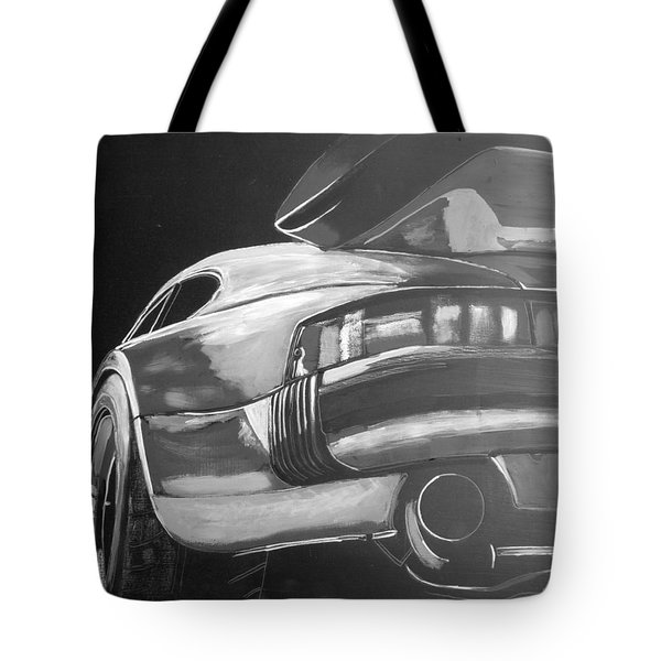 Tote Bag featuring the painting Porsche Turbo by Richard Le Page