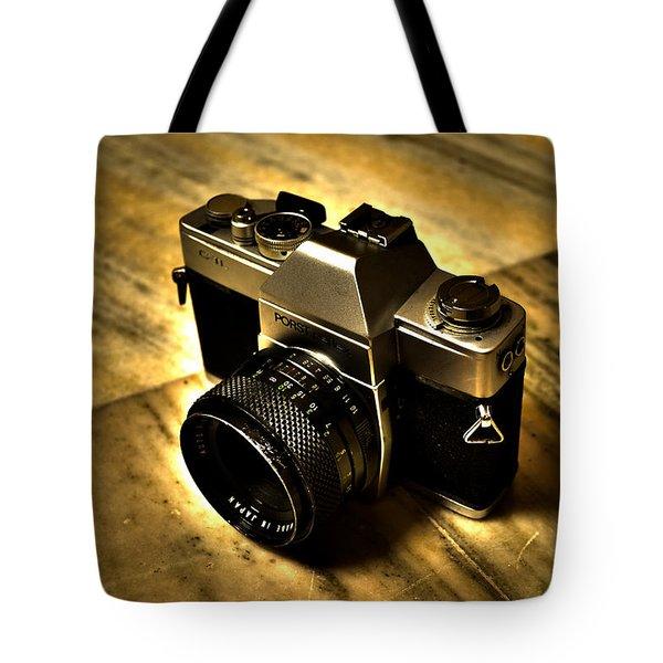 Tote Bag featuring the photograph Porst Flex Slr by Salman Ravish