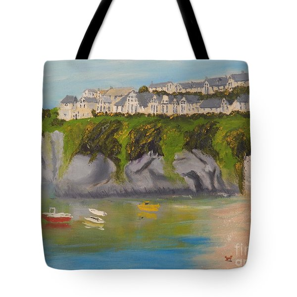 Tote Bag featuring the painting Port Asaac Cornwell by Pamela  Meredith