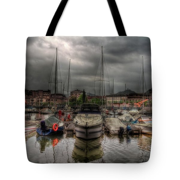 Port At Como Lake Tote Bag