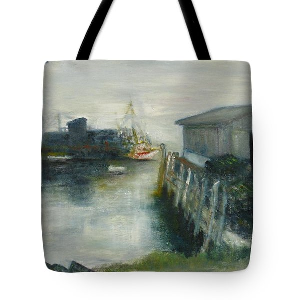 Port Clyde In Fog Tote Bag