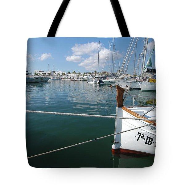 Port Da Savina, Formentera, Balearic Tote Bag