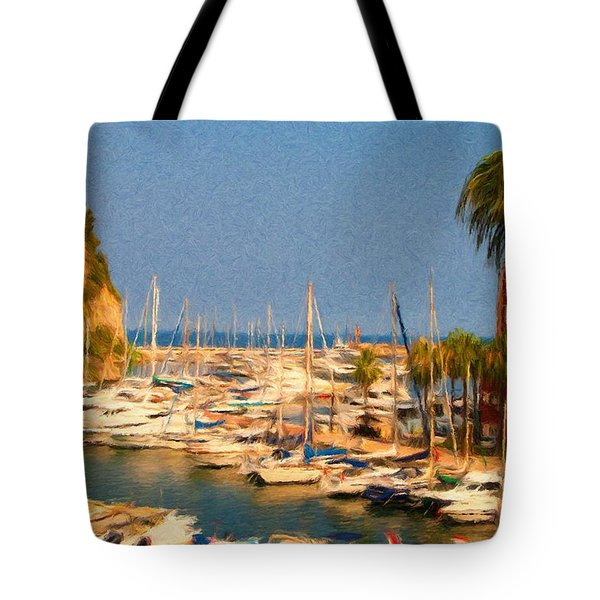 Port De Fontvieille Tote Bag by Jeffrey Kolker