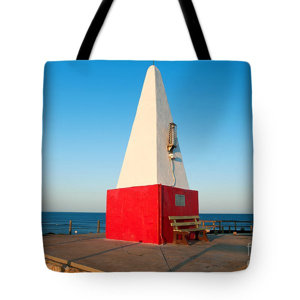 Tote Bag featuring the photograph Port Denison Obelisk by Yew Kwang