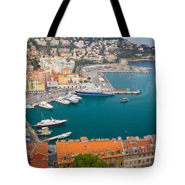 Port Du Nice Tote Bag by Inge Johnsson