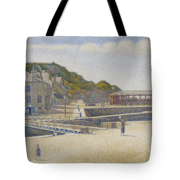 Port En Bessin Tote Bag by Georges Pierre Seurat
