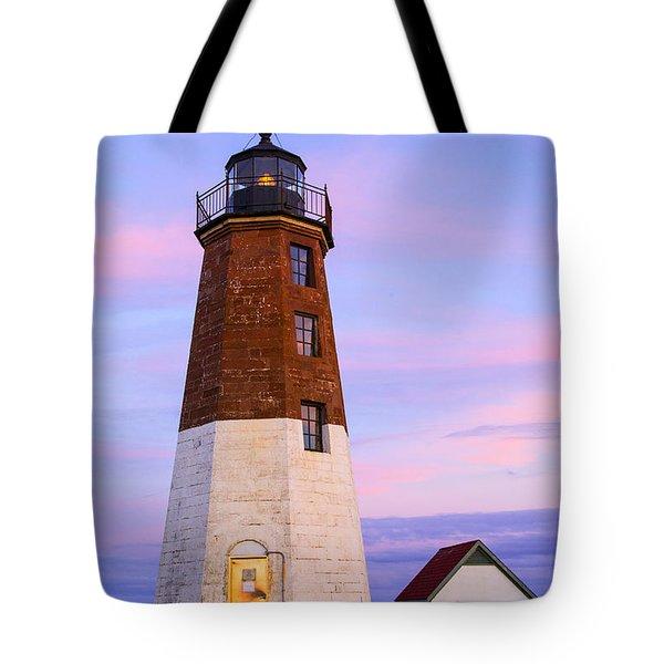Port Judith At Sunset Tote Bag by Karol Livote