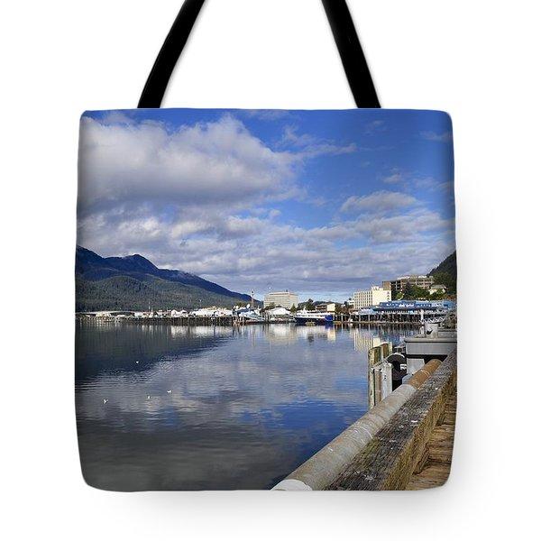 Port Of Juneau Tote Bag by Cathy Mahnke