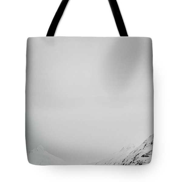 Portage Lake In Fog Tote Bag
