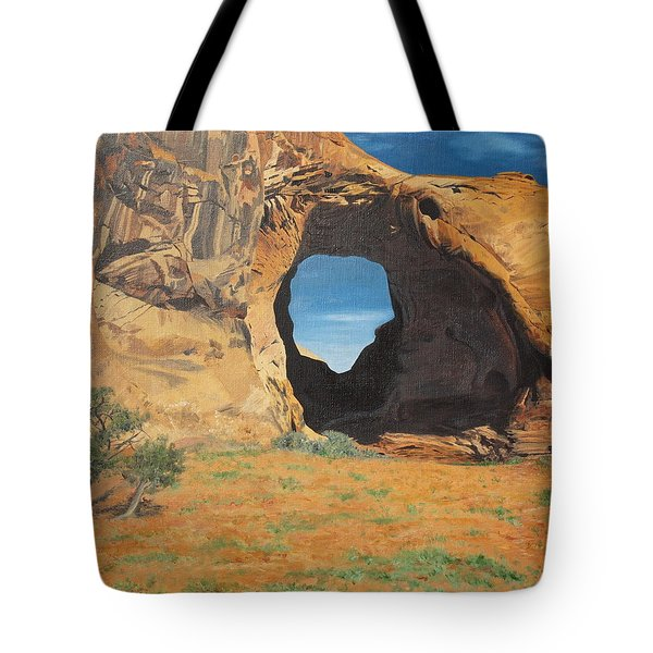 Portal At Window Rock  Tote Bag