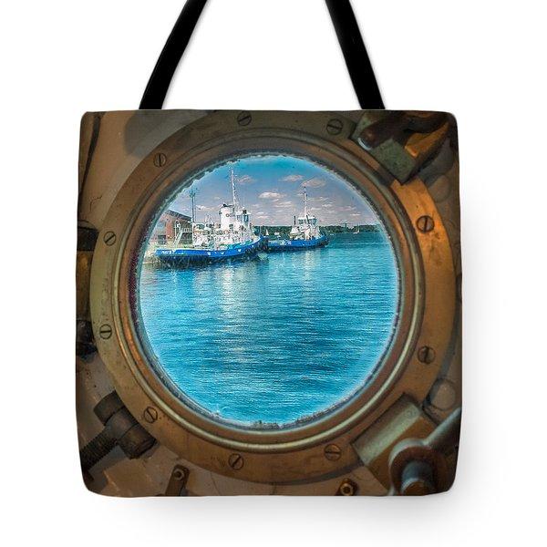Hmcs Haida Porthole  Tote Bag