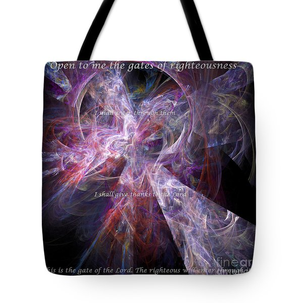 Tote Bag featuring the digital art Portal by Margie Chapman