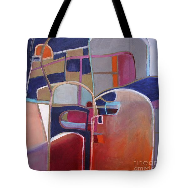 Tote Bag featuring the painting Portal No. 3 by Michelle Abrams