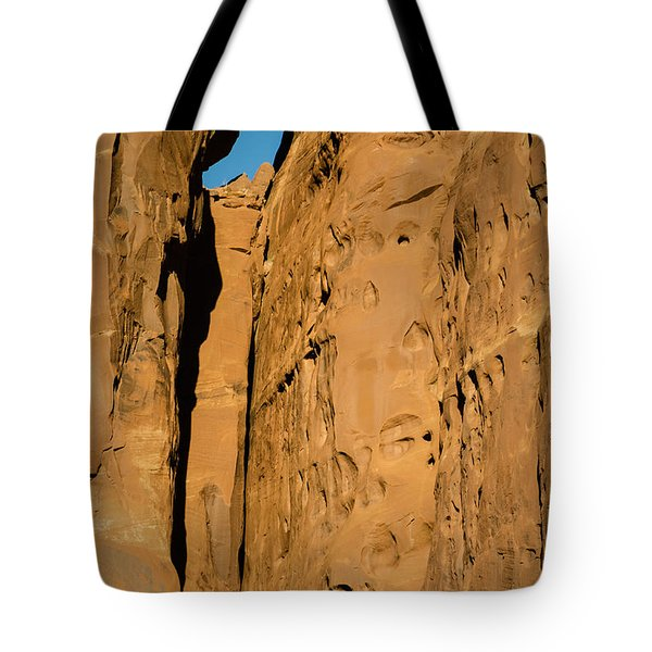 Tote Bag featuring the photograph Portal Through Stone by Jeff Kolker