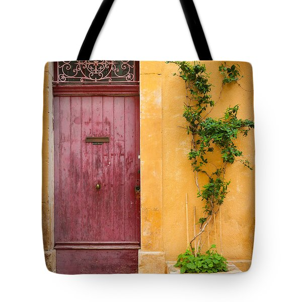 Porte Rouge Tote Bag by Inge Johnsson
