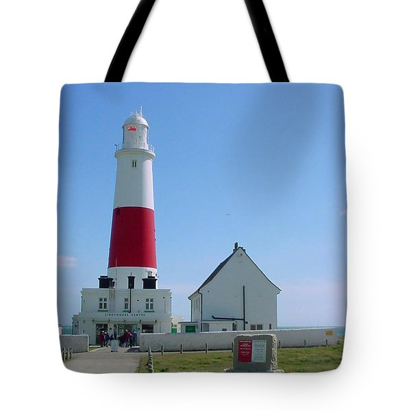 Portland Bill Lighthouse Tote Bag by Terri Waters