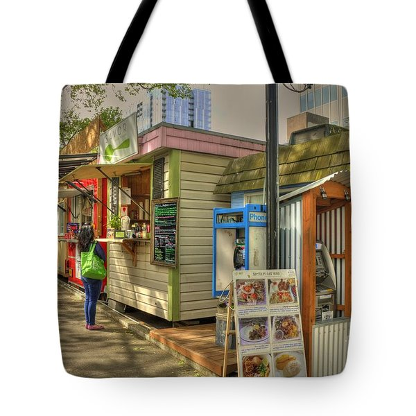 Portland Food Carts Tote Bag by David Bearden