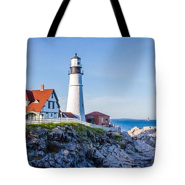 Portland Head Light House Cape Elizabeth Maine Tote Bag