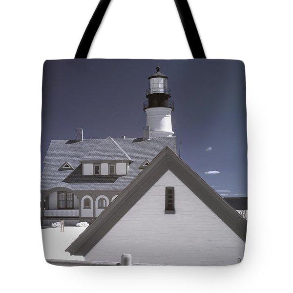 Portland Head Light In Ir Tote Bag by Joann Vitali