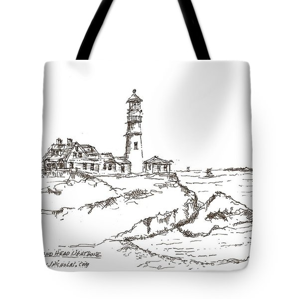 Portland Head Light Tote Bag by Jason Nicholas