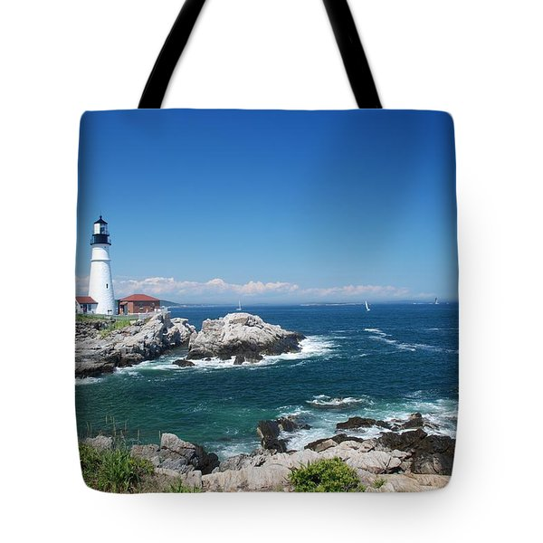 Portland Head Lighthouse Tote Bag by Allen Beatty