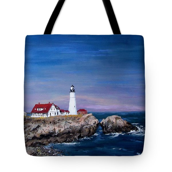 Portland Head Lighthouse Tote Bag by Jack Skinner