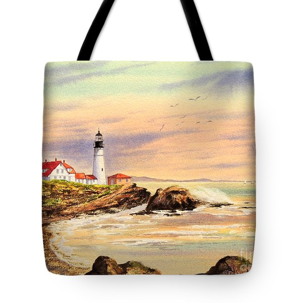 Portland Head Lighthouse Maine Tote Bag