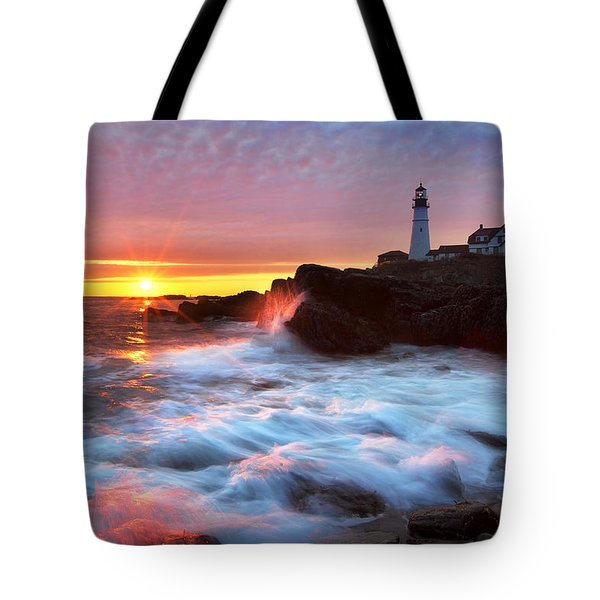 Portland Head Sunrise Tote Bag