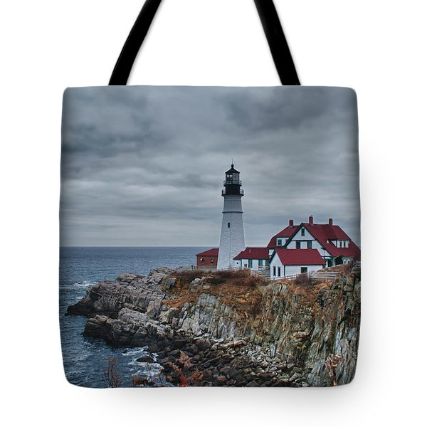 Tote Bag featuring the photograph Portland Headlight 14440 by Guy Whiteley