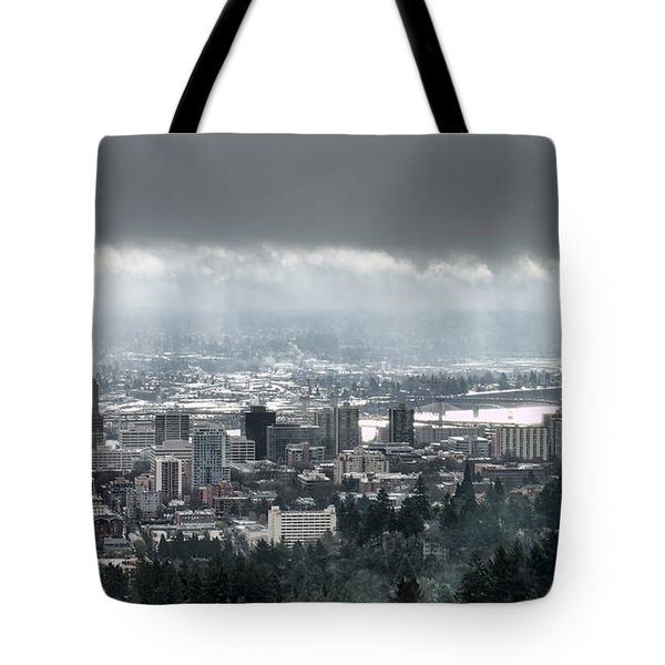 Portland Oregon After A Morning Rain Tote Bag