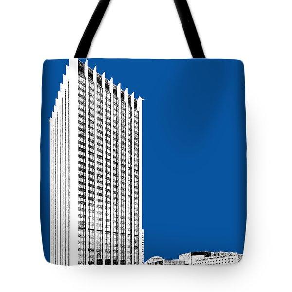 Portland Skyline Wells Fargo Building - Royal Blue Tote Bag