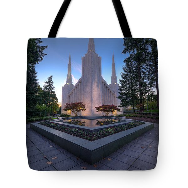 Portland Temple Tote Bag