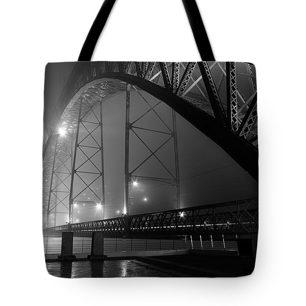 Porto @ Night Fog Tote Bag